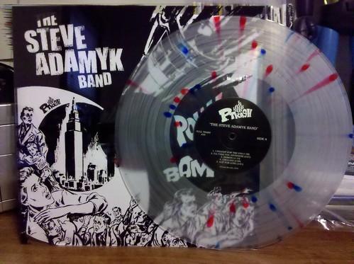 Steve Adamyk Band - S/T LP - Ptrash Club Version - Screened Cover, Clear Vinyl /100