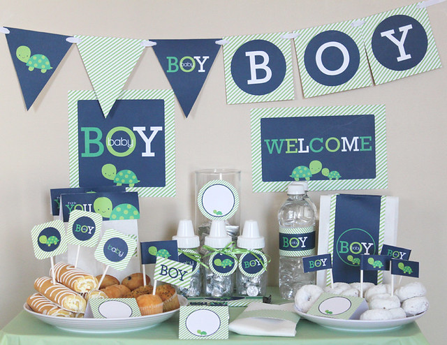turtle boy baby shower printable package flickr photo sharing