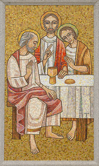 Resurrection Cemetery, in Affton, Missouri, USA - mosaic of the Last Supper