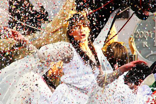festa di carnevale con coriandoli
