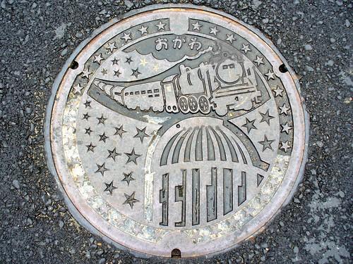 Ogawa Nagano manhole cover(長野県小川村のマンホール)