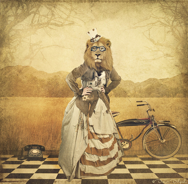 The lion-headed lady who rode a bike
