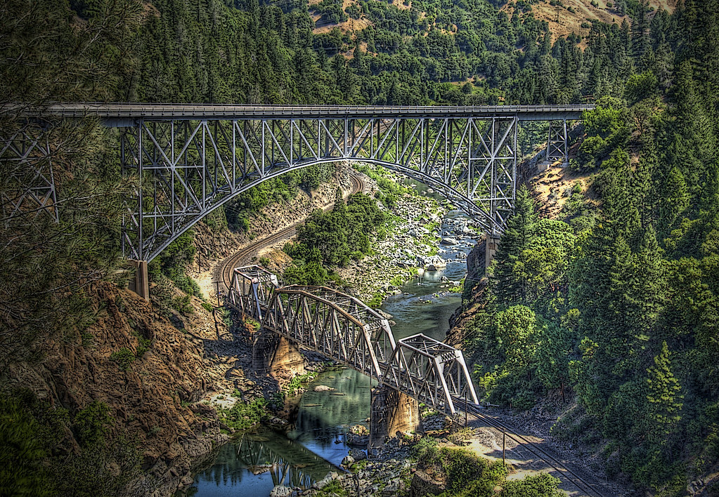 Oroville California Map >> Pulga Bridges, Feather River Canyon, California | Pulga Brid… | Flickr