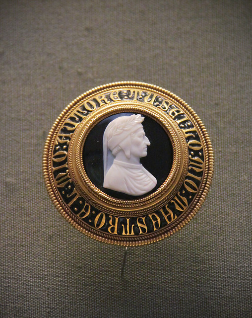 Onyx cameo, bust of Dante, about 1865, Italy