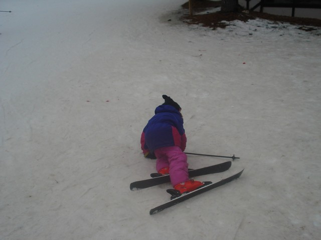 Karli fell quite a bit!