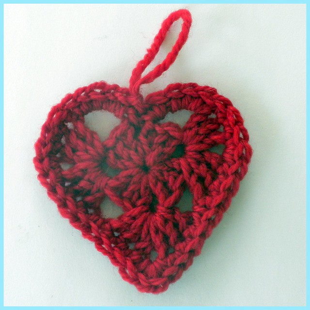 Free Crochet Granny Heart Pattern : Crochet Granny Square Heart, with border Flickr - Photo ...