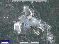 Satellite View of Oil Sands Development, Alberta