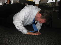Formal Fridays mean push-ups in a tie