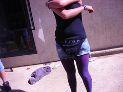 arm, footwear, clothing, purple, abdomen, muscle, limb, leg, human body, thigh, tights, spandex,