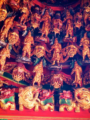 Statues on the ceiling