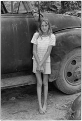 Girl in front of truck, Kentucky, 1971, by William Gedney