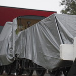 NSW Locomotive No 78 under wraps at the Rail Heritage Centre - 3 January 2011