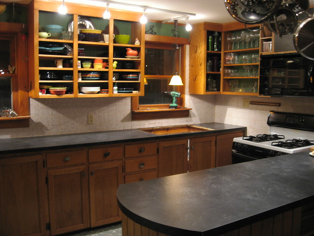 Laminate Finish Kitchen Cabinets