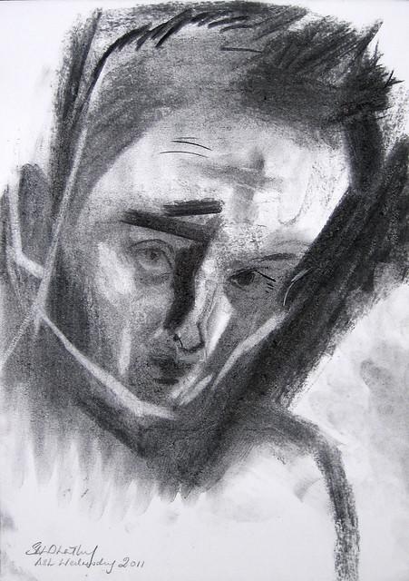 Self Portrait: Ash Wednesday 2011 by Stephen B Whatley