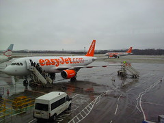 @easyJet plane at Edinburgh Airport