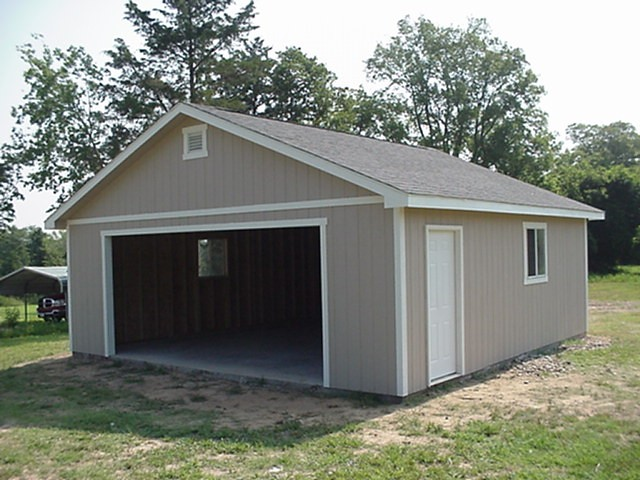 24x24 garage flickr photo sharing for Two car garage shed