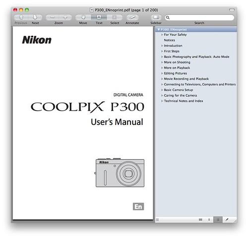 Nikon P300 Manual