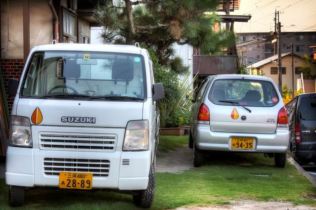 Kei-Cars on Lawn