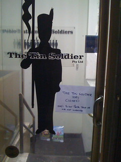 Tin Soldier closed