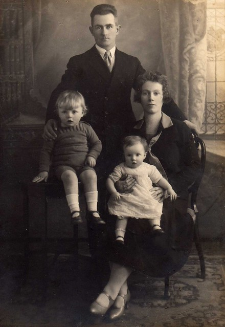 Michael John & Mary Theresa Twomey with Michael jn. and Mary Theresa jn.(Molly) 1926-7