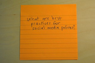 Social Media Policy:  Best Practices