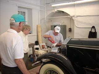 Volunteer Dick Carroll (left), Larry Murphy (right) with Greg Landrey (center) April 20, 2011 kls 019
