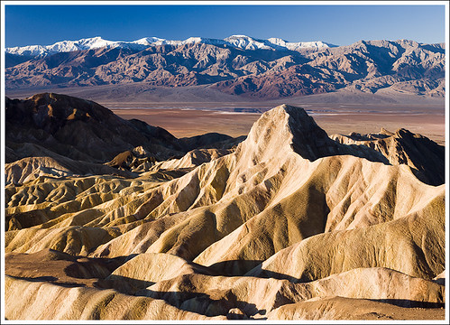 Badwater Lake and Panamint Range, Death Valley, CA by travelpix