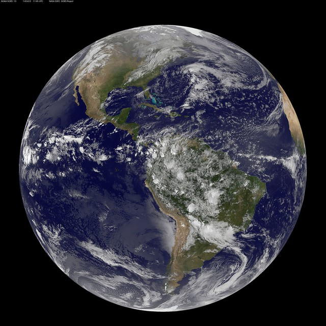 Satellite View of the Americas on Earth Day