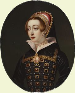 Portrait of a young woman called Anne Boleyn