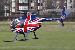 G-SWEL - patriotic 1971 build Hughes 500, visiting Barton