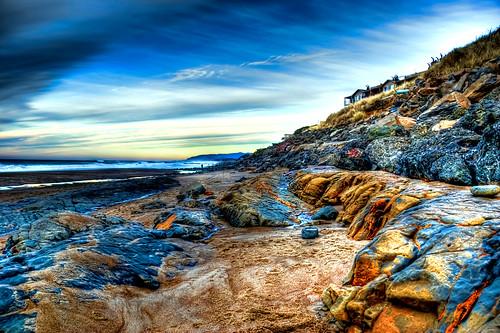 sea oregon coast sand rocks sigma 18200 hdr cs4 bellabeach photomatix nikond80 topazadjust mygearandme