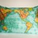 world map cushion from My Bearded Pigeon by cath @ chunkychooky
