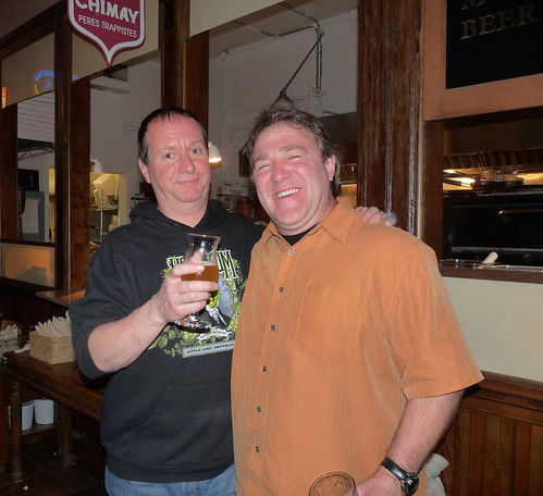 Pi Bar's Rich Rosen with Sierra Nevada Brewery's Terence Sullivan at Sierra Night