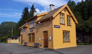 Jernbanestasjonen på Reimegrend