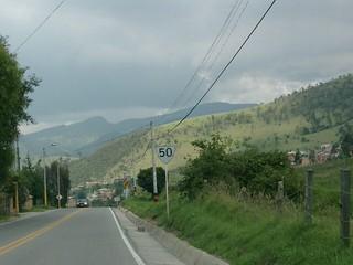 Ruta Nacional 50, La Calera, Cundinamarca, Colombia