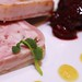 Rabbit and apricot terrine with Neil Sproule's cherries at Sparkling Hill
