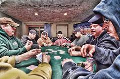 Poker game.
