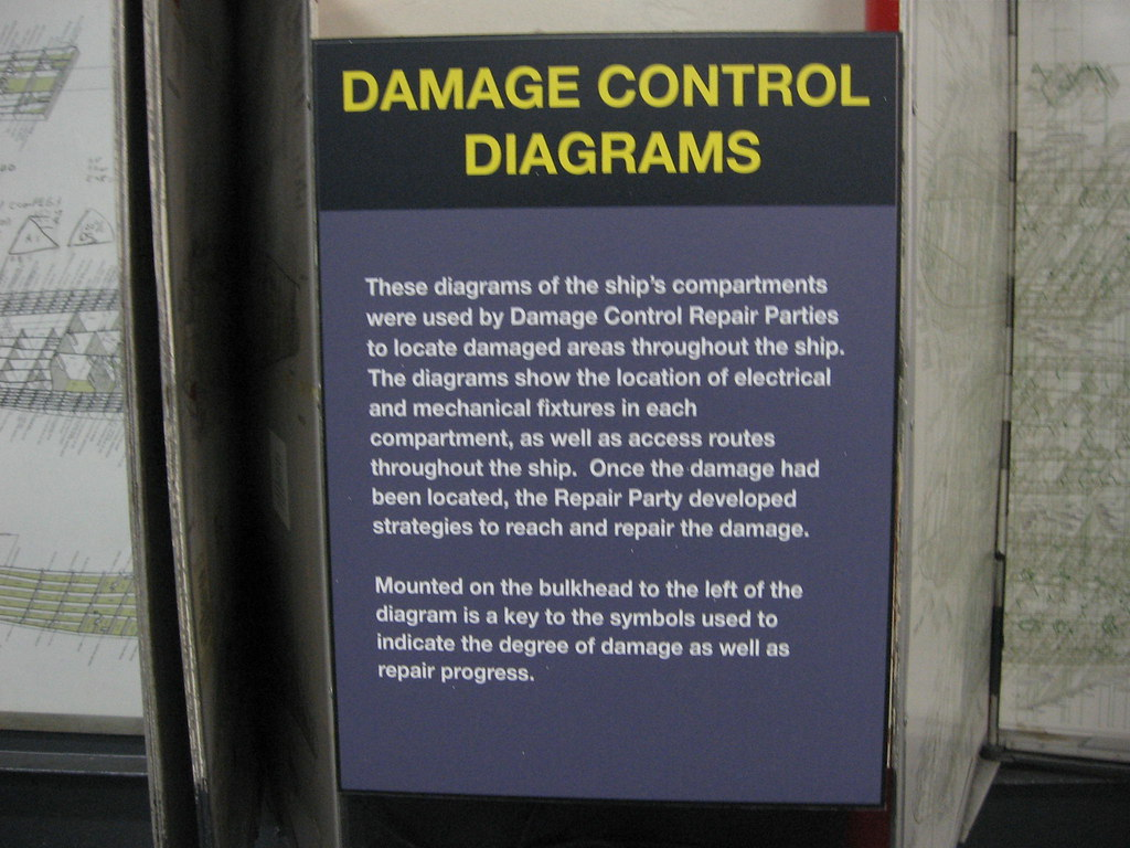 damage control diagrams are still useful 2-22-11 - uss midway | by