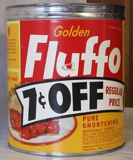50s Golden Fluffo Shortening