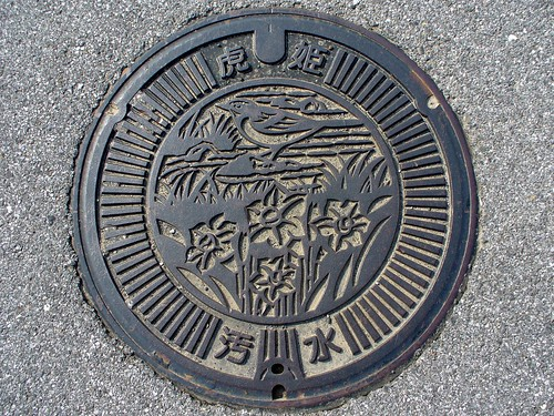 Torahime Shiga manhole cover(滋賀県虎姫町のマンホール)