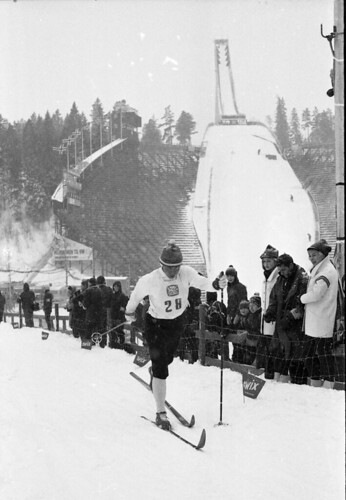 Gullvinner Georg Thoma, 15 km langrenn kombinert, VM på ski i Oslo 1966