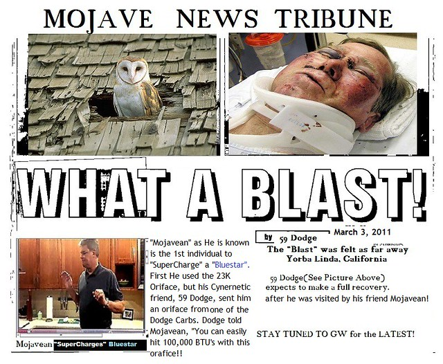 What a Blast Newspaper Bluestar