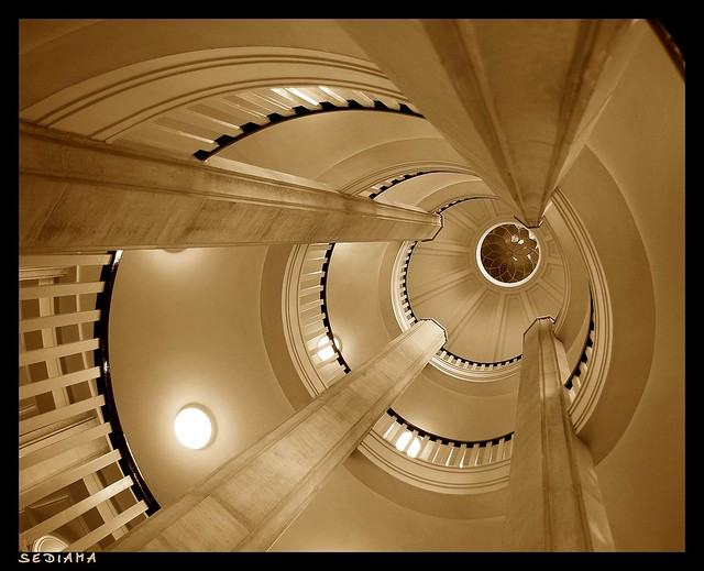 sepia stairs