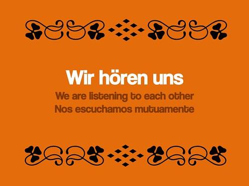 Wir hören uns