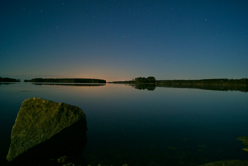 longexposure trees sky water rock stars island maine brunswick middlebay simpsonspoint 100pictures supermoon sonya230 13dark