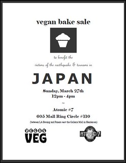vegan bake sale for Japan