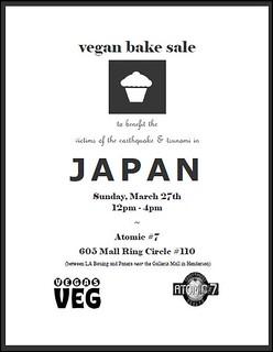 vegan bake sale for Japan