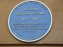 Photo of William Nash Skillicorne blue plaque