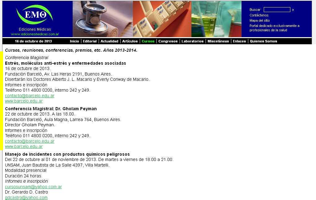 Site Ediciones Médicas 16-10-13