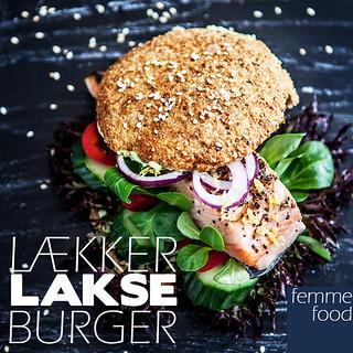 Lækker lakseburger